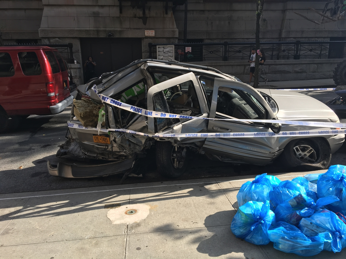 driver critically injured in upper east side crash police say