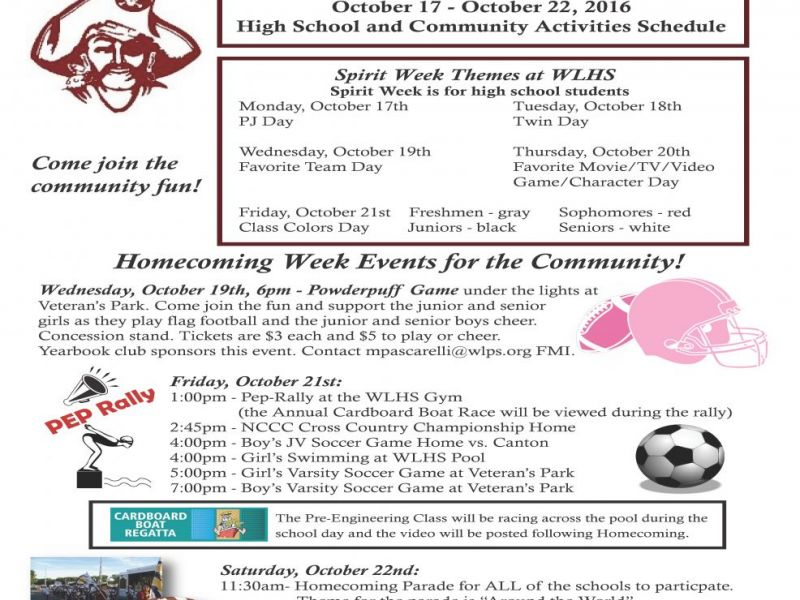 Windsor Locks High School Homecoming Events