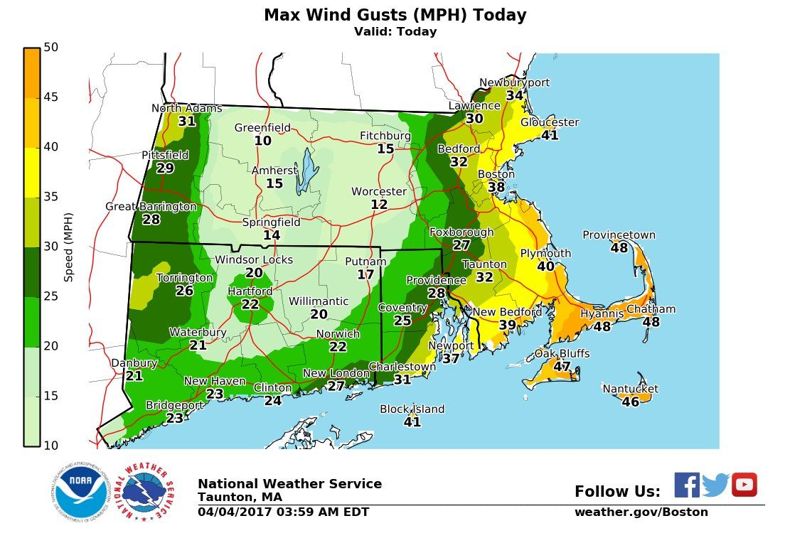 Massachusetts Weather Forecast Heavy Rains Could Bring Minor - Us map weather forecast