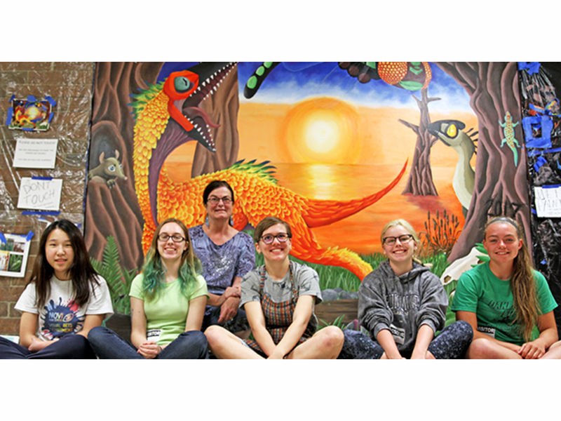 1000 Hours Go Into Novi High Mural