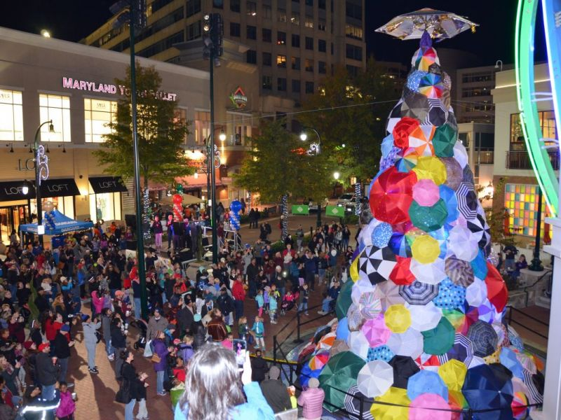 Positivi Tree Lights Up Downtown Silver Spring Silver