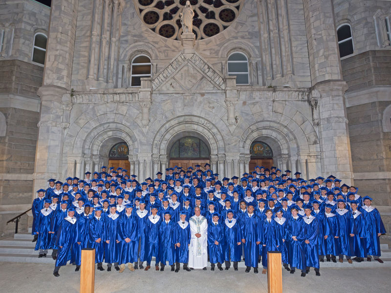 jesuit high celebrates baccalaureate mass at sacred heart