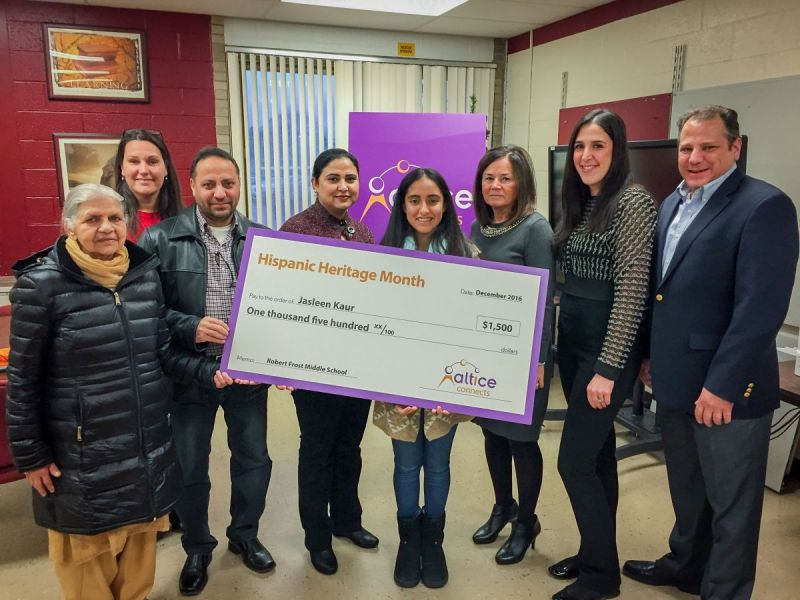altice connects hispanic heritage month essay contest grand prize altice connects hispanic heritage month essay contest grand prize presentation at robert frost middle school
