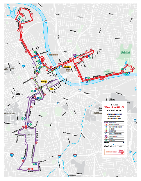 rock and roll marathon route map with Nashville St Jude Rock N Roll Marathon Road Closures Set Start Times Change on 1140051 besides Vancouver Sun Run Road Closures And Route Map moreover Rock N Roll San Diego Elevation Chart together with Ing New York City Marathon 2013 Review moreover Rock N Roll Las Vegas Half Marathon.