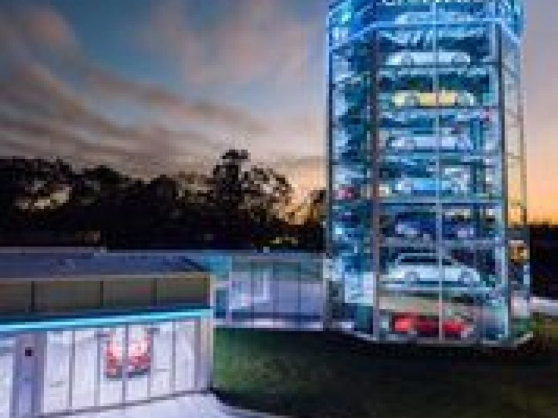 Have Coin Will Travel Carvana Opens Car Vending Machine