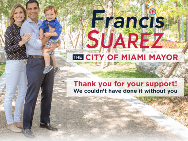 Francis suarez elected mayor of miami miami fl patch for Accuweather palm beach gardens