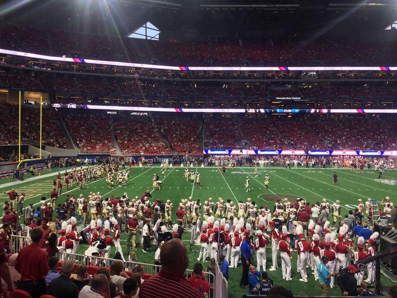 Alabama 24 vs florida state 7 atlanta 39 s mercedes benz for Mercedes benz football