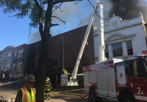 Milwaukee Shut Down By Multi Alarm Furniture Store Fire Chicago Il Patch