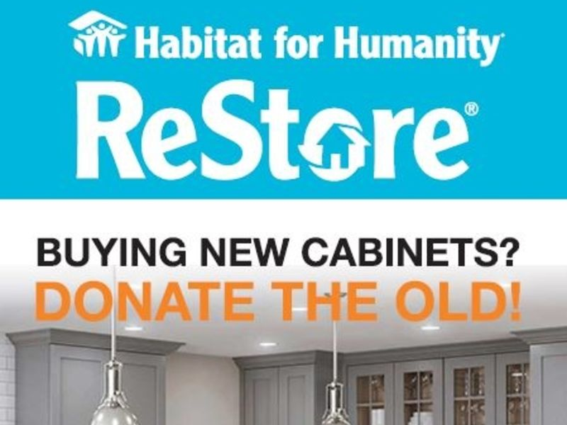The Solid Wood Cabinet Company Habitat For Humanity Upcycle - Donate cabinets