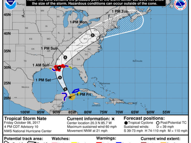 Hurricane Nate Update Florida Panhandle Need To Know Facts Miami Fl Patch