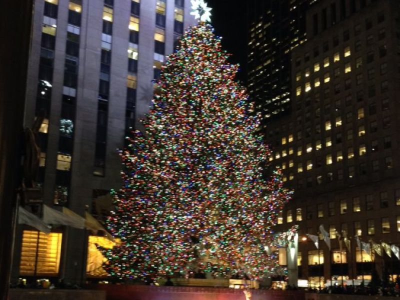 Lights On Rockefeller Christmas Tree