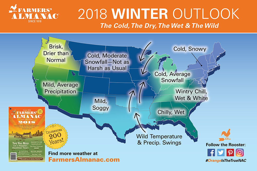 Farmers Almanac Releases Winter 2018 Forecast For Maryland