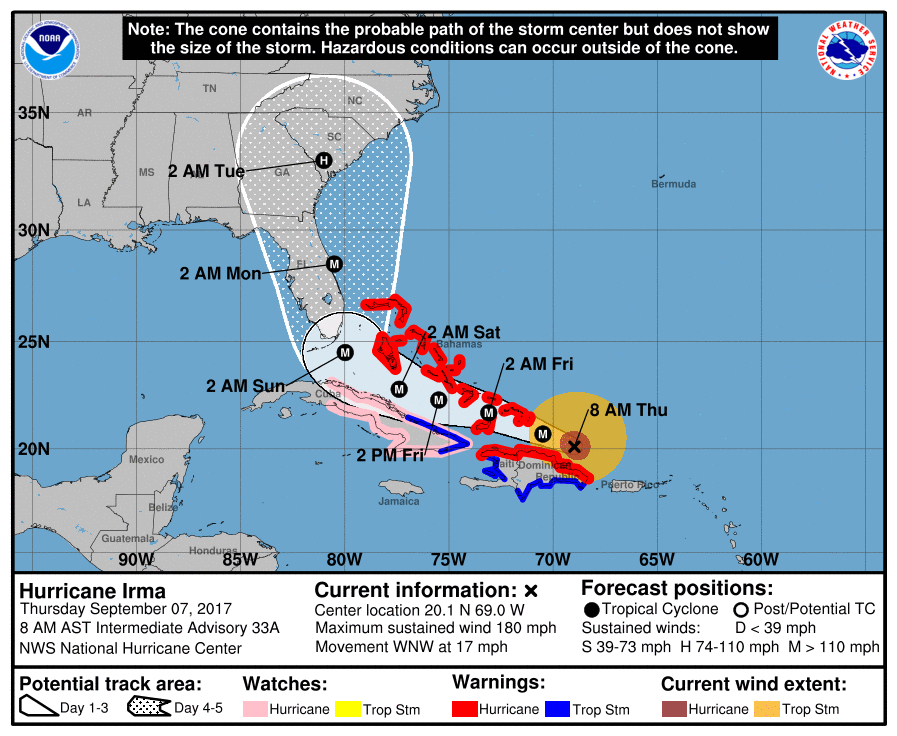 Hurricane Irma Georgia Evacuation Order For K Residents - Georgia map hurricane