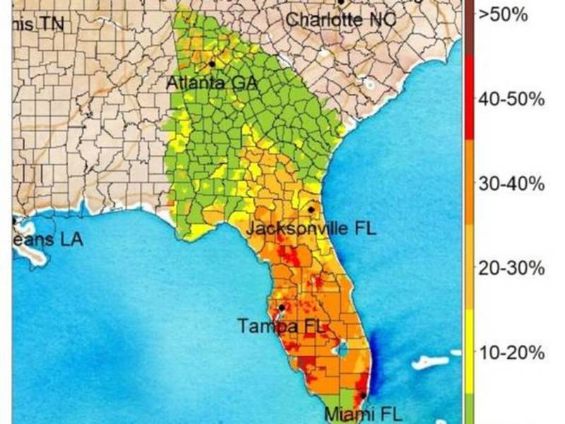 Hurricane Irma Almost Million Predicted To Be Without Power In - Us power outage map