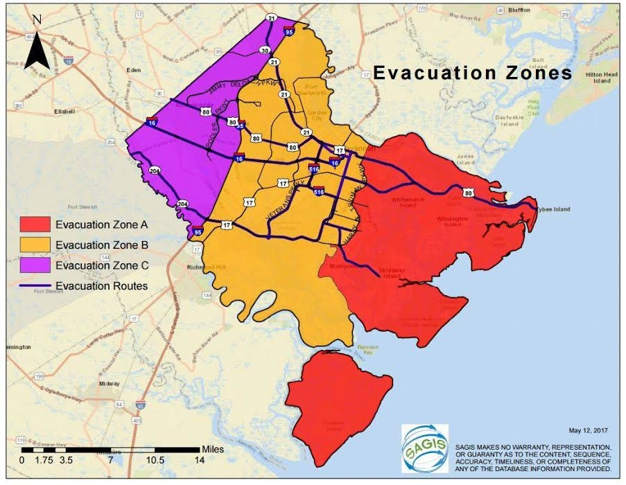 Hurricane Irma Full List Of Georgia Evacuation Shelters Where To - Georgia map for hurricane irma